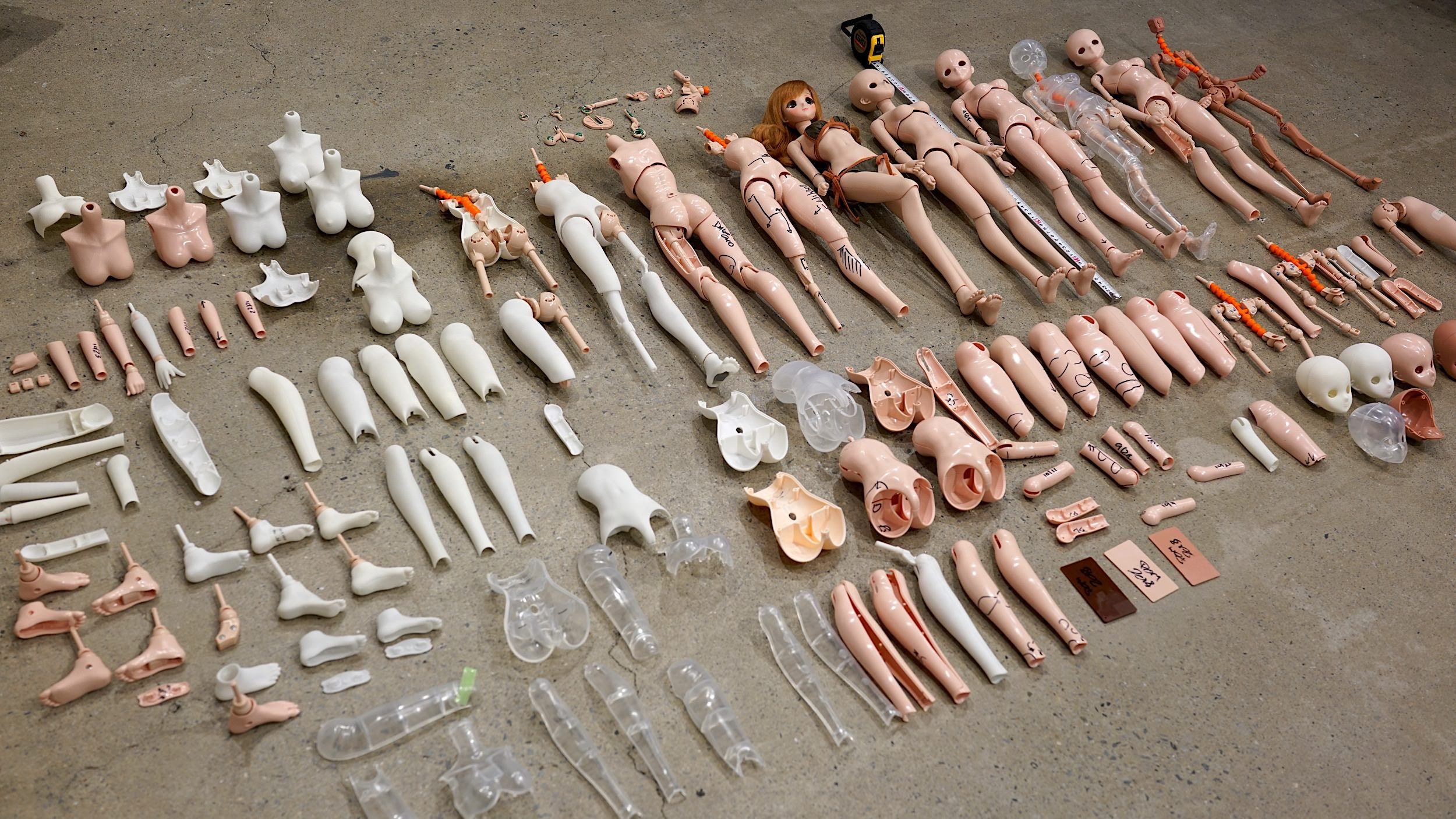 WIP pictures of the design process. Picture © copyright by – Smart Doll - Danny Choo