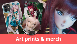 Support me and get awesome doll art prints & merchandise!