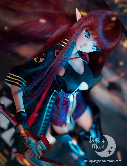 Kronos (Smart Doll Athena) in her battle and fight armor.